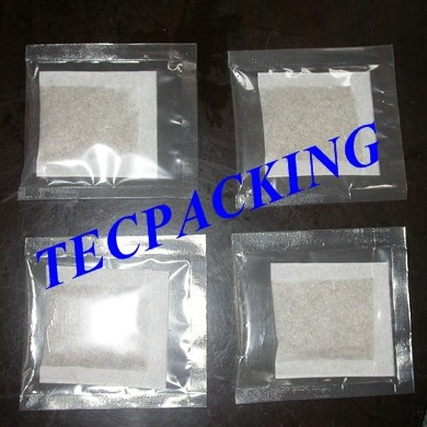 Rectangular filter paper tea bag in 3-side heat seal outer envelope