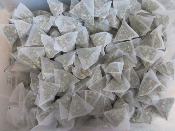 Result pyramid tea bags 3